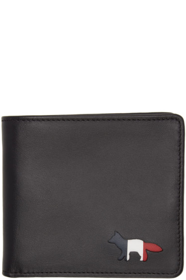Maison Kitsuné - Black Cut-Out Bifold Wallet