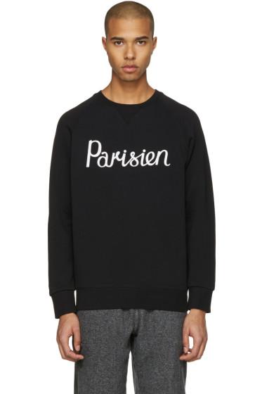Maison Kitsuné - Black 'Parisien' Pullover