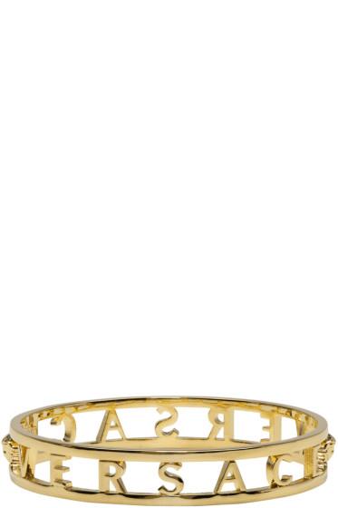 Versace - Gold Logo Bangle