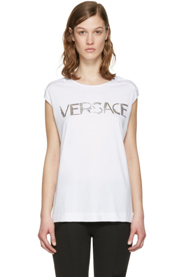 Versace - White Muscle T-Shirt