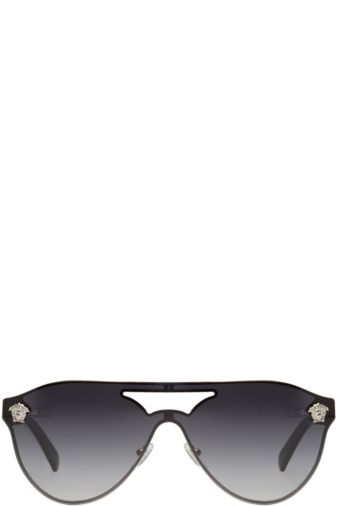 Versace - Grey Pilot Sunglasses
