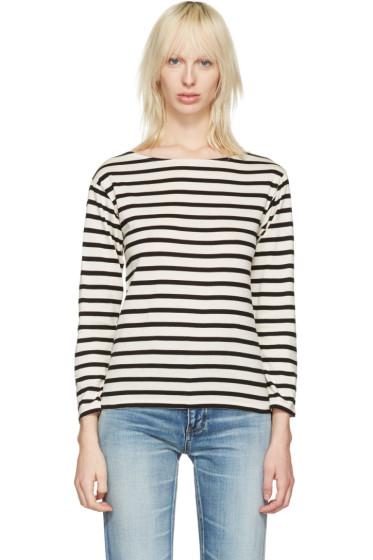 Saint Laurent - White Striped Marlon T-Shirt