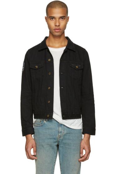 Saint Laurent - Black Denim Patch Jacket