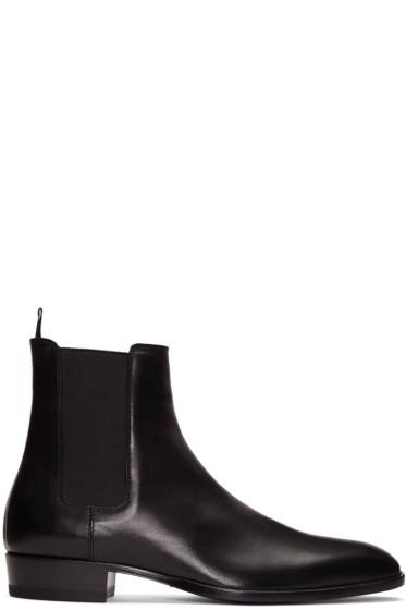 Saint Laurent - Black Wyatt Chelsea Boots