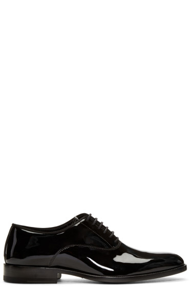 Saint Laurent - Black Patent Leather Dylan Oxfords