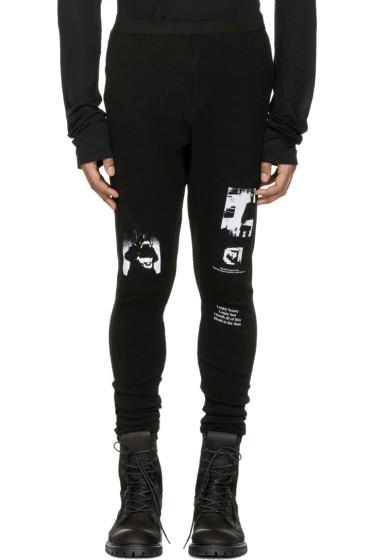 Julius - Black Printed Lounge Pants