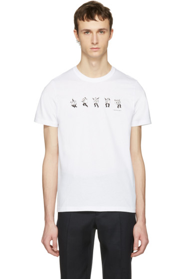 PS by Paul Smith - White Dancing Dice T-Shirt