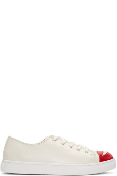 Charlotte Olympia - Off-White Kiss Me Sneakers