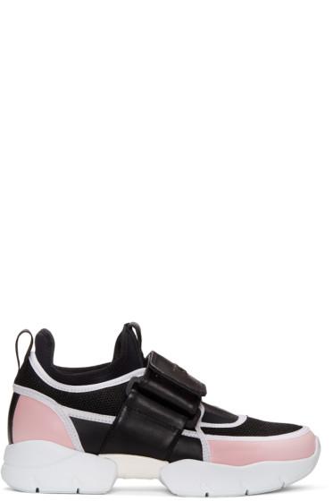 MSGM - Tricolor Logo Strap Sneakers