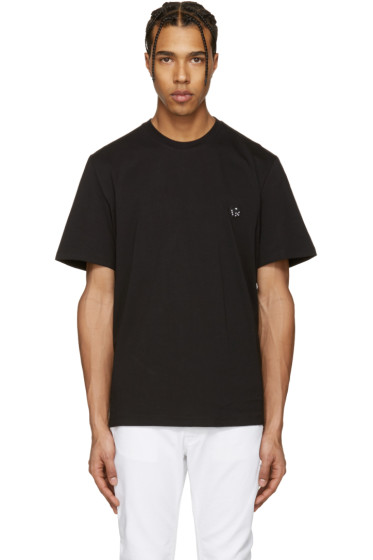 MSGM - Black Dice Patch T-Shirt