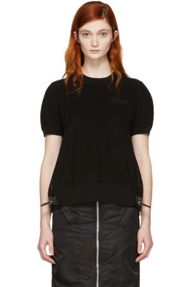 Sacai - Black Dot Lace Pullover