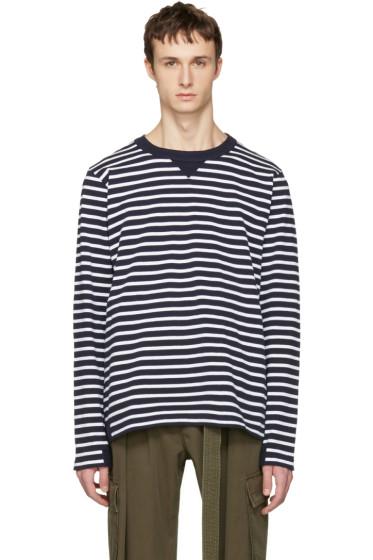 Sacai - Navy Striped Dixie Border T-Shirt