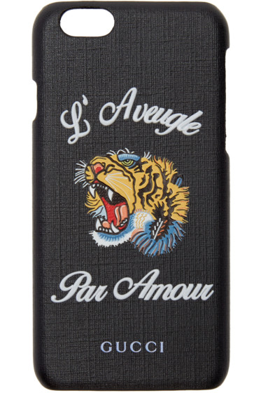 Gucci - Black 'L'Aveugle Par Amour' iPhone 6 Case