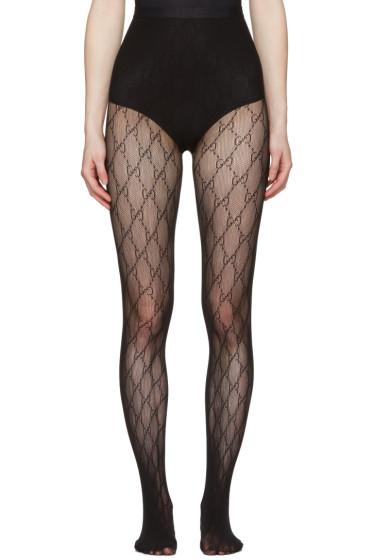 Gucci - Black GG Supreme Stockings