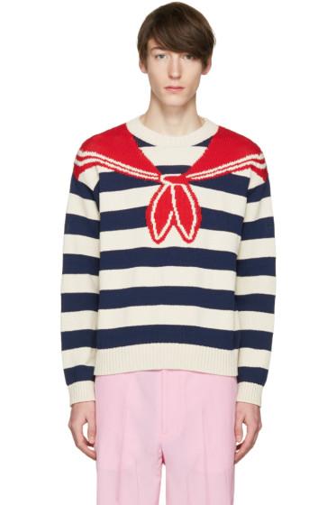 Gucci - Multicolor Trompe L'Oeil Sweater