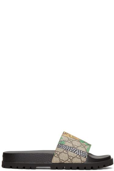 Gucci - Brown Pursuit Trek Bengal Sandals