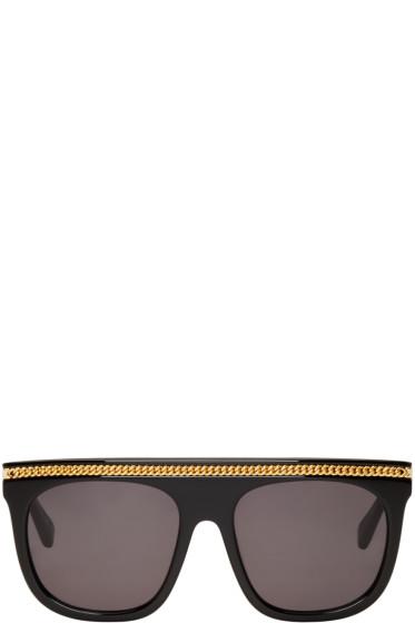 Stella McCartney - Black Falabella Flat-Top Sunglasses