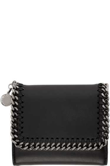 Stella McCartney - Black Falabella Small Flap Wallet
