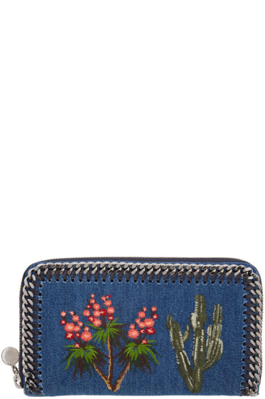 Stella McCartney - Blue Denim Fallabella Zip Wallet