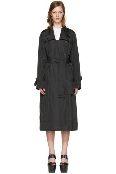Stella McCartney - Black Long Trench Coat