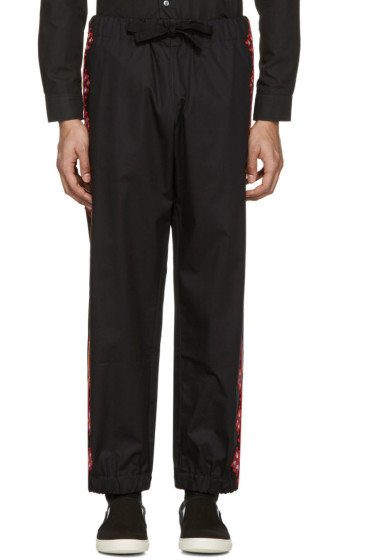 Stella McCartney - Black Embroidered Trousers