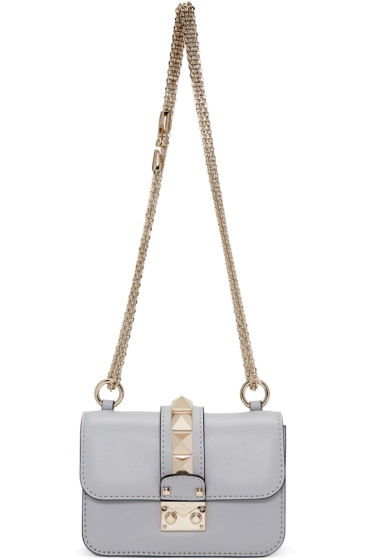 Valentino - Grey Mini Lock Shoulder Bag