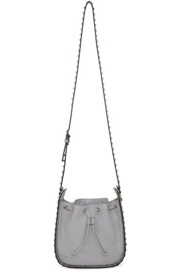 Valentino - Grey Rockstud Shoulder Bag