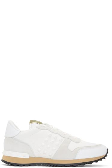 Valentino - White Rockstud Sneakers