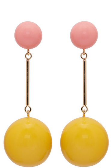J.W.Anderson - Yellow & Pink Sphere Earrings