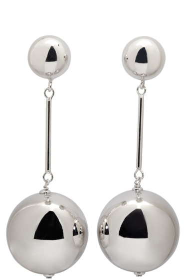 J.W.Anderson - Silver Sphere Drop Earrings