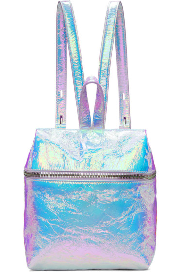 Kara - Iridescent Small Crinkled Leather Backpack