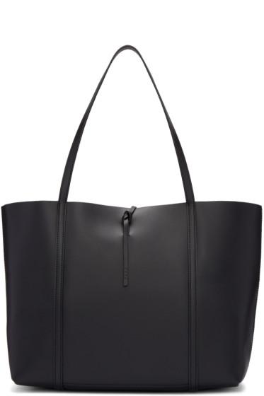 Kara - Black Leather Tie Tote