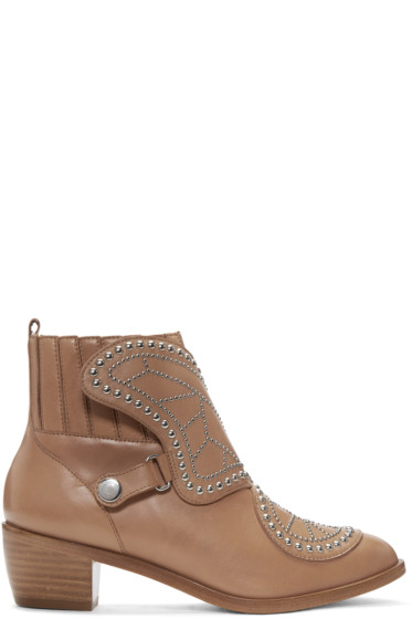 Sophia Webster - Tan Karina Boots