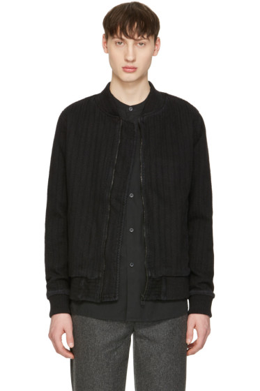 Naked & Famous Denim - Black Denim Bomber Jacket
