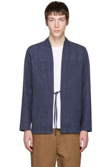 Naked & Famous Denim - SSENSE Exclusive Indigo Kimono Shirt