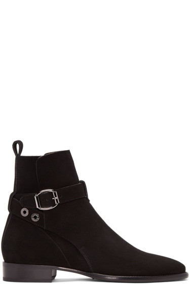 Jimmy Choo - Black Suede Holden Boots