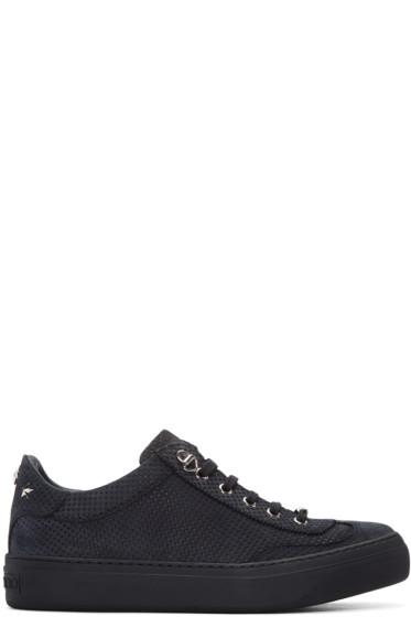 Jimmy Choo - Grey Nubuck Perforated Ace Sneakers