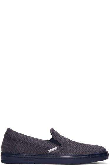 Jimmy Choo - Navy Grove Slip-On Sneakers