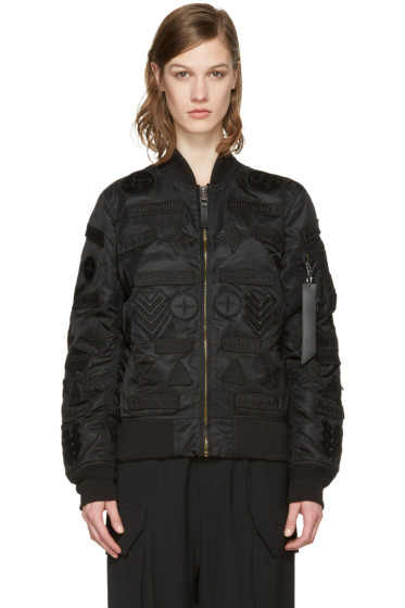 Marcelo Burlon County of Milan - Black Alpha Industries Edition Roldan MA-1 Bomber Jacket