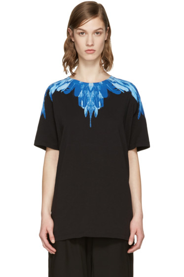 Marcelo Burlon County of Milan - SSENSE Exclusive Black Izar T-Shirt