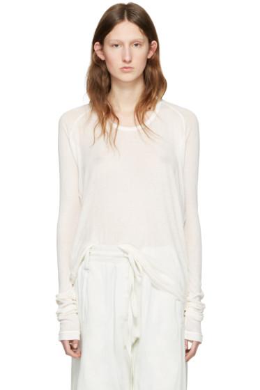 Haider Ackermann - Off-White Long Sleeve T-Shirt