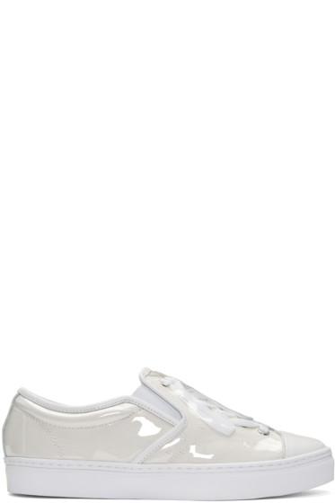 Miharayasuhiro - White PVC Covered Sneakers