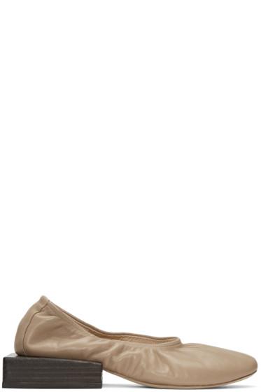 Jacquemus - Taupe 'Les Ballerines' Flats