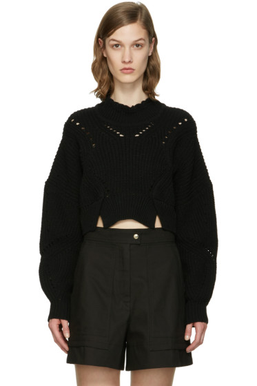 Isabel Marant - Black Cropped Gane Sweater