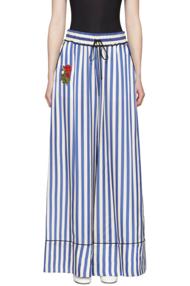 Off-White - Blue Striped Pyjama Trousers