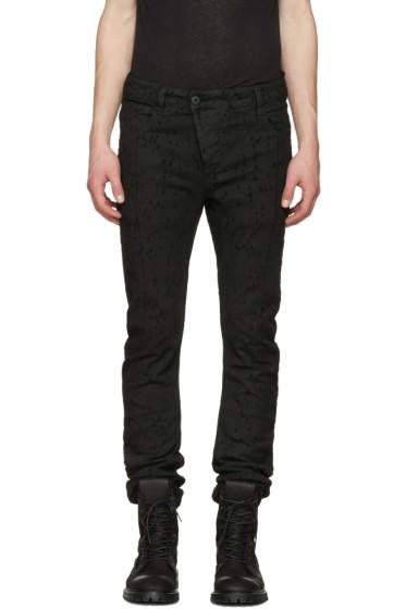 11 by Boris Bidjan Saberi - Black Metric Laser Jeans