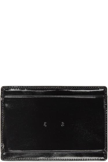 PB 0110 - Black Patent Leather CM 9 Card Holder