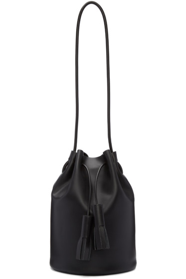 Building Block - Black Tassel Bucket Bag