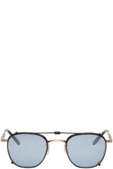 Garrett Leight - Tortoiseshell Grant Clip-On Sunglasses