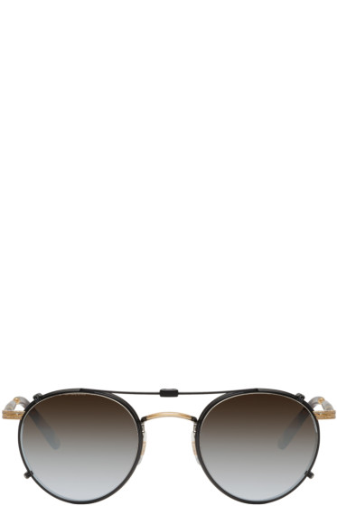 Garrett Leight - Black Clip-On Wilson Sunglasses